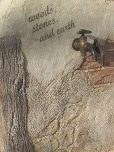 『 木と石と土の立水栓 (作品番号 U1903) 』