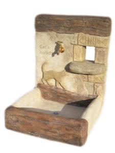 『 ネコの休日 立水栓 (作品番号 U1901) 』
