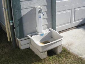 ①現況、立水栓がある場合の施工方法です